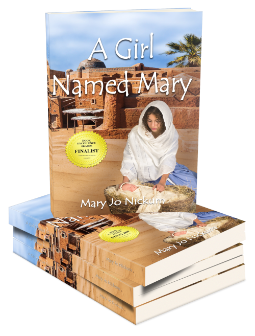 A Girl Named Mary 3D Book Stack